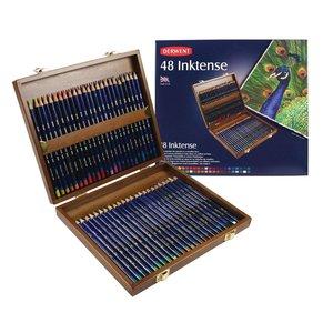 Inktense Woodbox Derwent 48-Delig