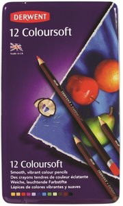 Derwent 12 Coloursoft potloden