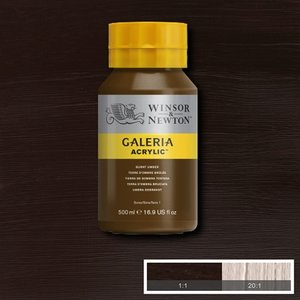 Galeria 076 Acrylverf Burnt Umber 500ml
