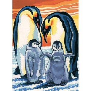 Schilderen op nummer Pinguins