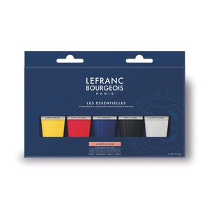 Lefranc Bourgeois Acryl Verf Set 5x80ml