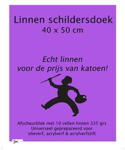 Linnen Schildersdoek Afscheurblok 40x50
