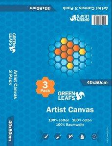 Schildersdoek Artist Canvas Greenleafs 40x50 Per 3 Pack