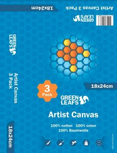 Schildersdoek Artist Canvas Greenleafs 18x24 Per 3 Pack