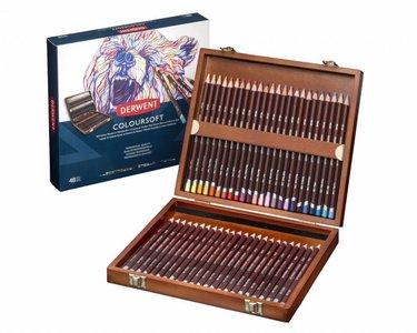 Coloursoft Woodbox Derwent 48-Delig