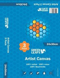 Schildersdoek Artist Canvas Greenleafs 24x30 Per 3 Pack