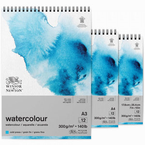 Winsor & Newton Watercolour Blok A4 Spiraal