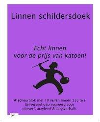 Linnen Schildersdoek Afscheurblok 360x465