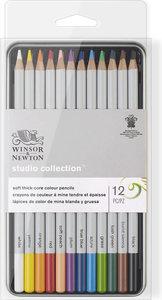 Winsor&Newton Studio Collection Aquarelpotloden Set 12