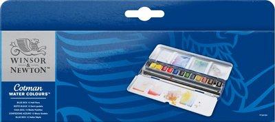 W&N COTMAN WATER COLOURS BLUE BOX