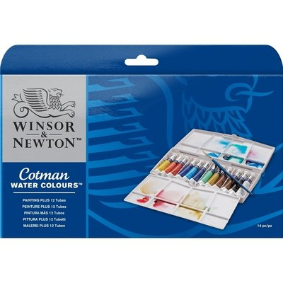 Cotman Painting Plus 12 Tubes Set