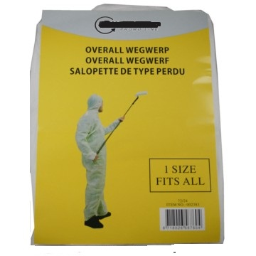 Wegwerp overall 1 maat fits all