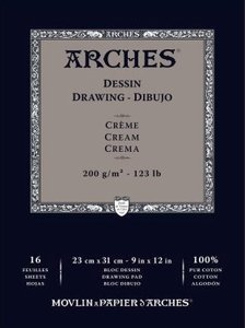 arches drawing cream