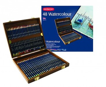 Watercolour Woodbox Derwent 48-Delig