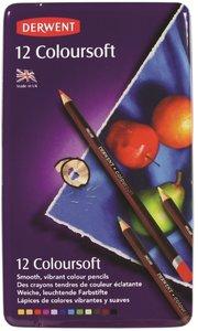 Derwent 12 Coloursoft potloden